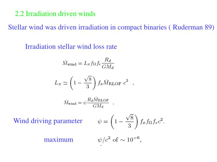 2.2 Irradiation driven winds