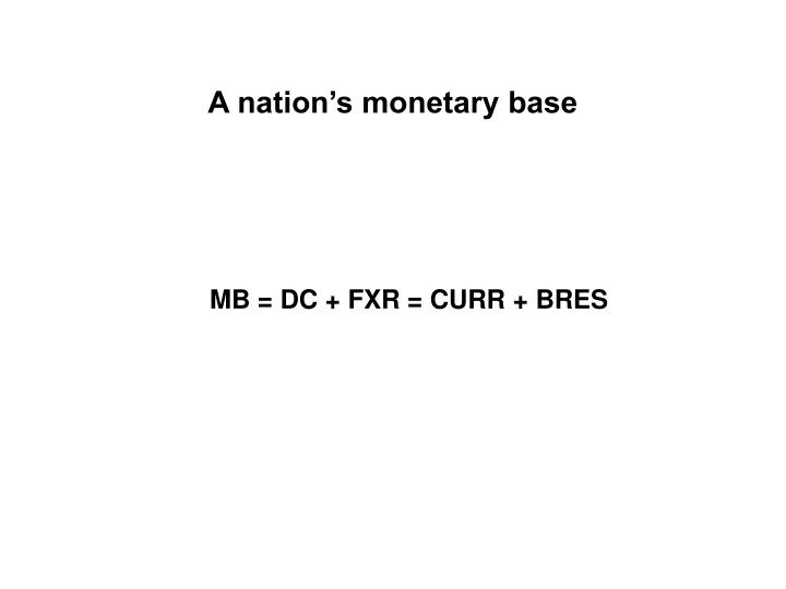 A nation's monetary base