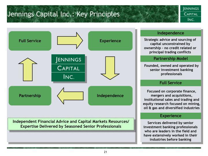 Jennings Capital Inc.: Key Principles