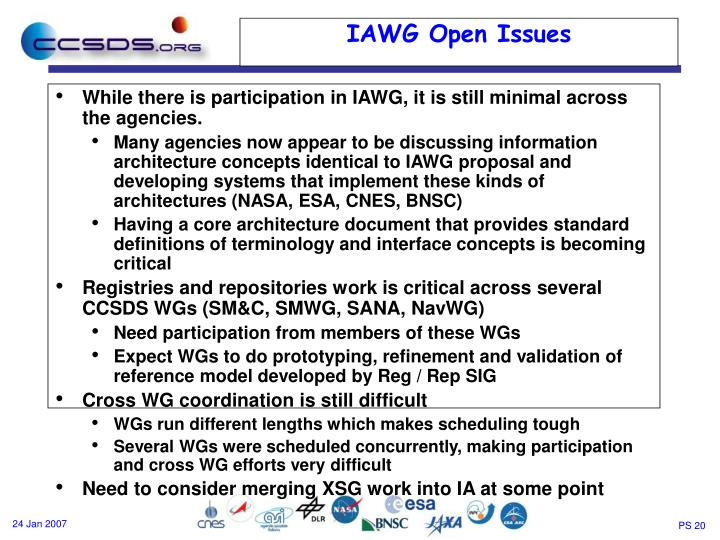 While there is participation in IAWG, it is still minimal across the agencies.