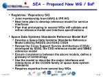sea proposed new wg bof