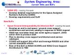 system engineering area current wgs and bofs1