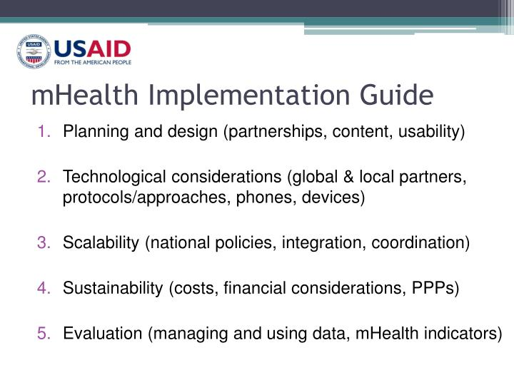 mHealth Implementation Guide