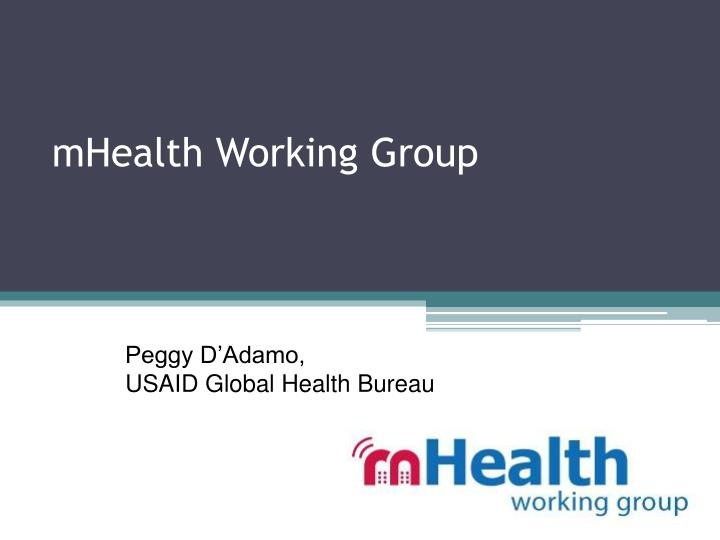 Mhealth working group