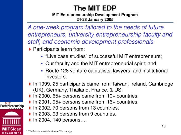The MIT EDP