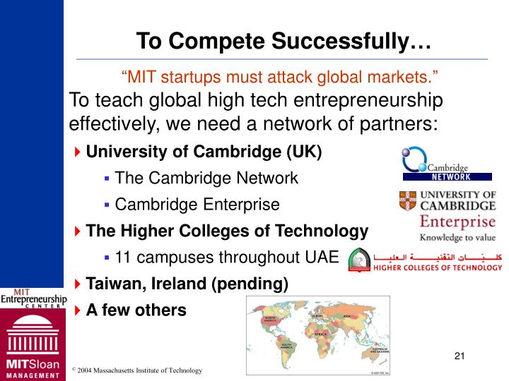 To Compete Successfully…
