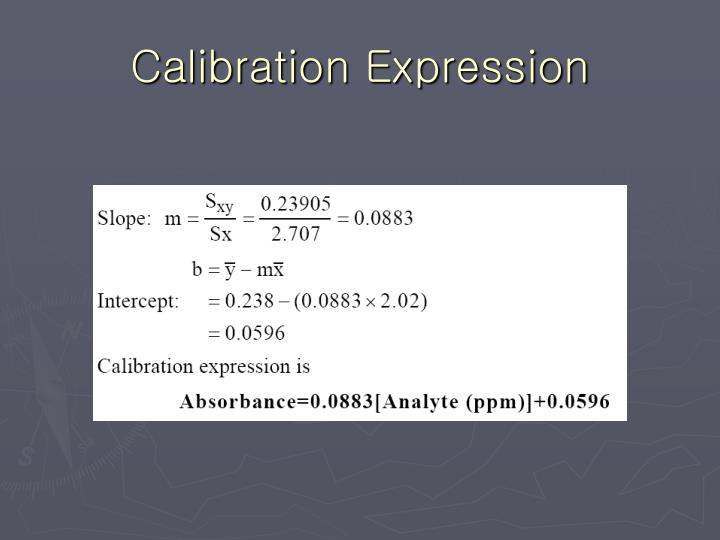 Calibration Expression
