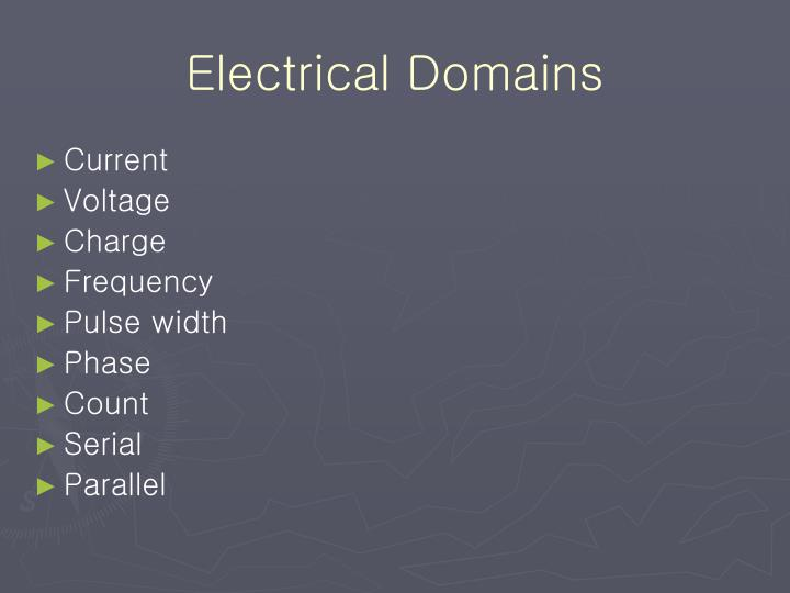 Electrical Domains