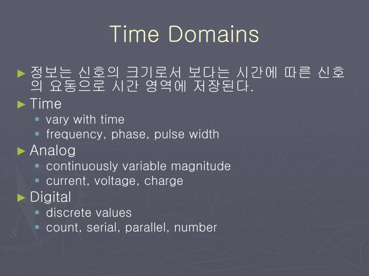 Time Domains