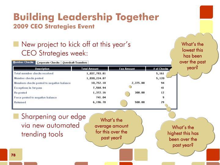 Building Leadership Together