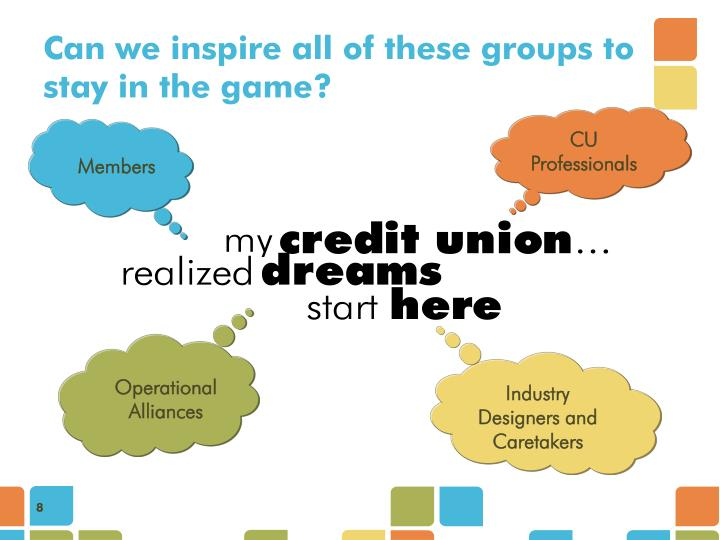Can we inspire all of these groups to stay in the game?