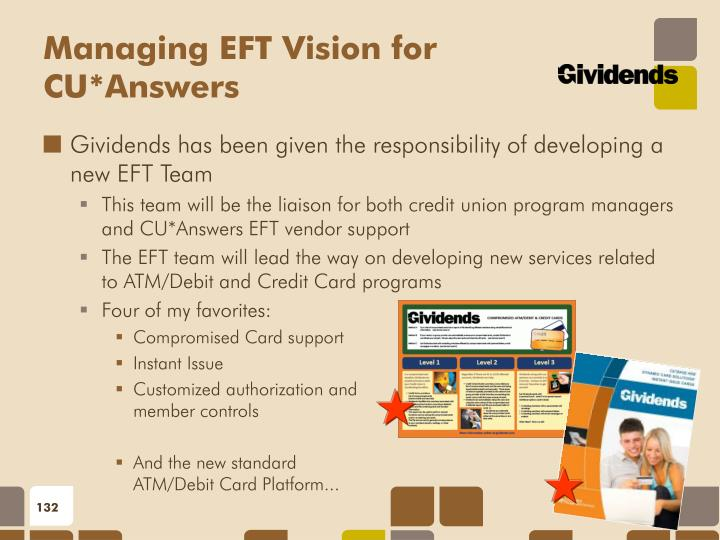Managing EFT Vision for CU*Answers