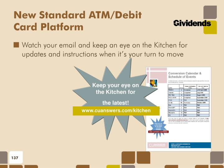 New Standard ATM/Debit