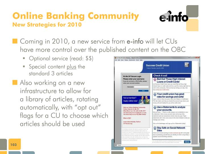 Online Banking Community