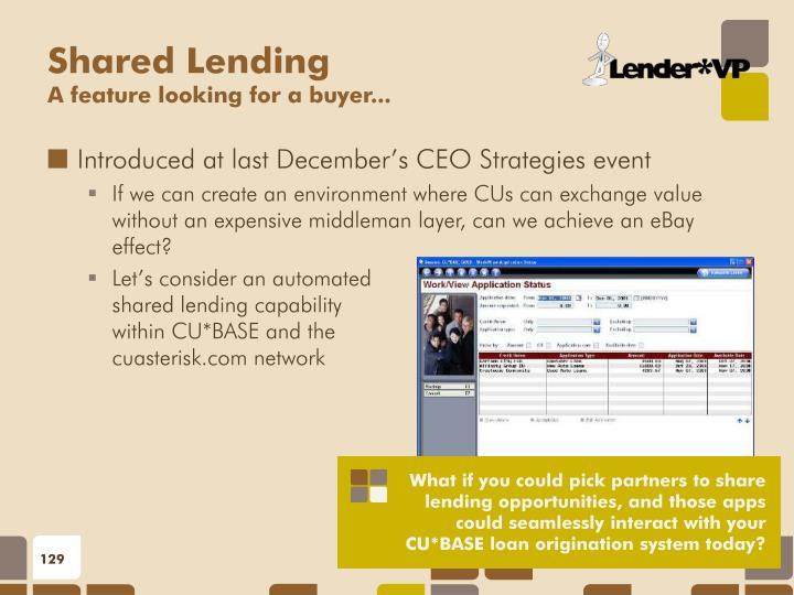 Shared Lending