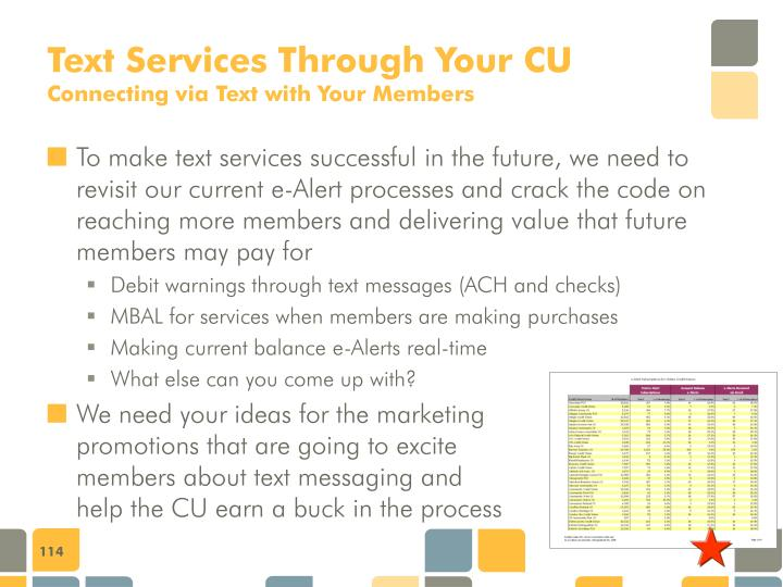 Text Services Through Your CU