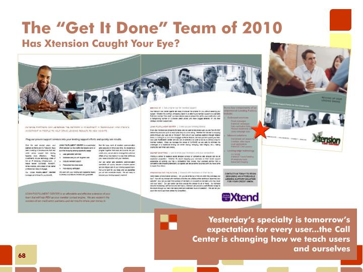 """The """"Get It Done"""" Team of 2010"""