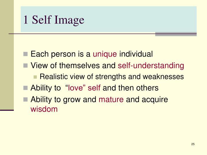 1 Self Image