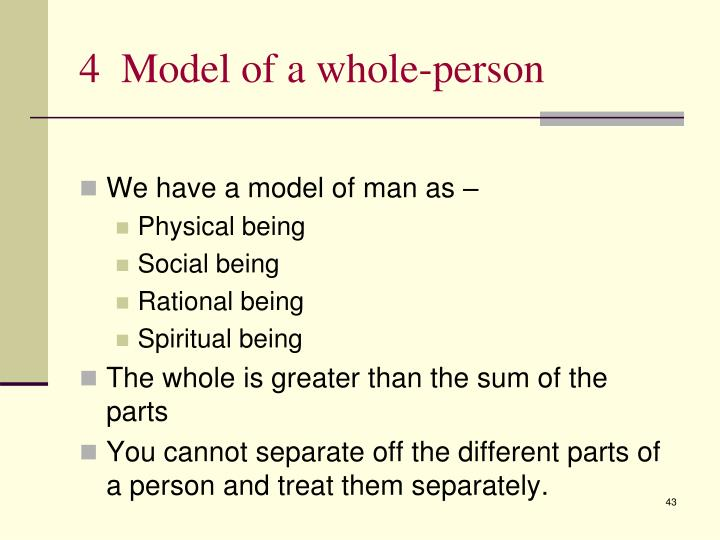 4  Model of a whole-person