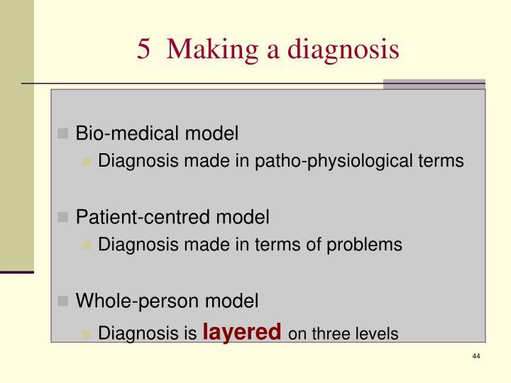 5  Making a diagnosis