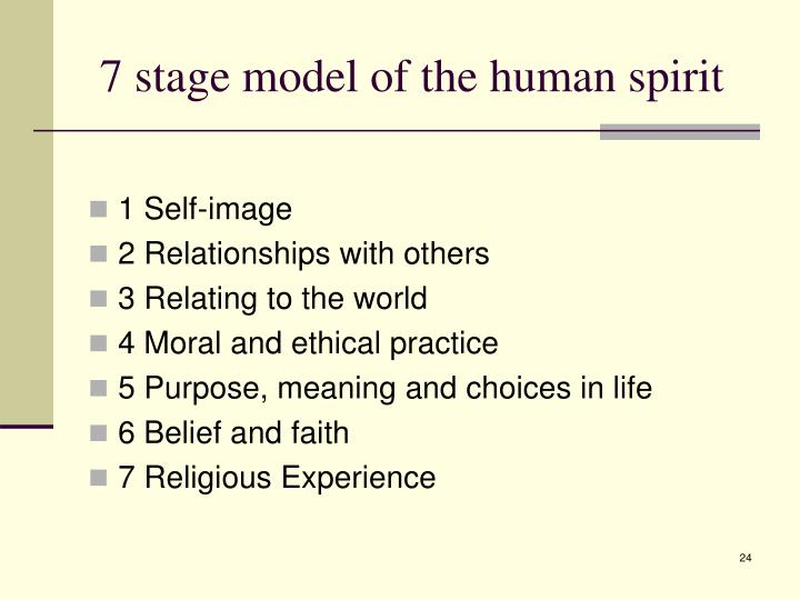 7 stage model of the human spirit