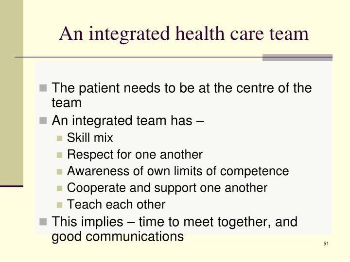 An integrated health care team
