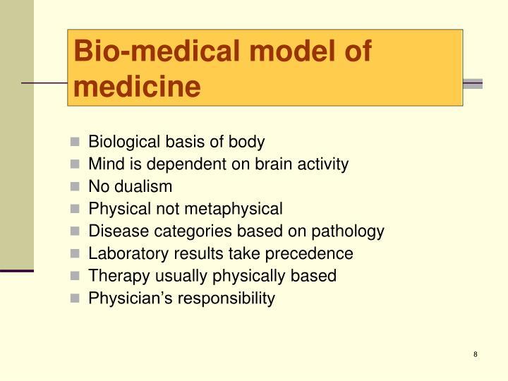 Bio-medical model of medicine