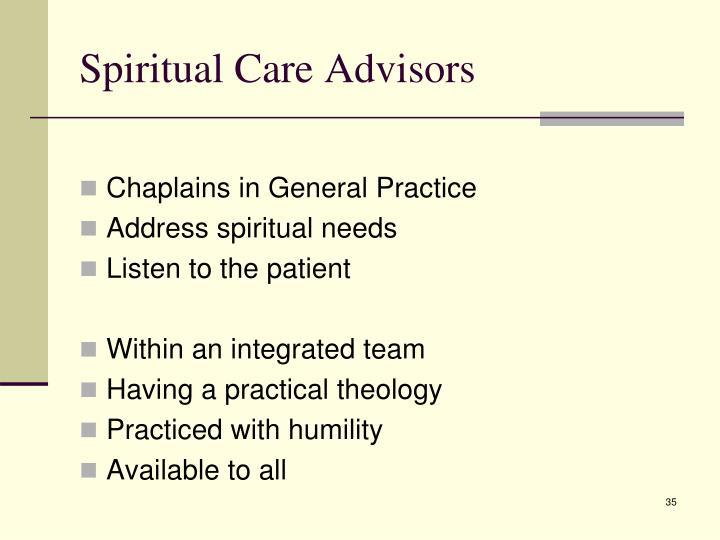 Spiritual Care Advisors