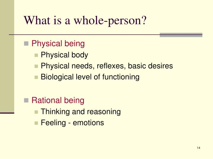 What is a whole-person?