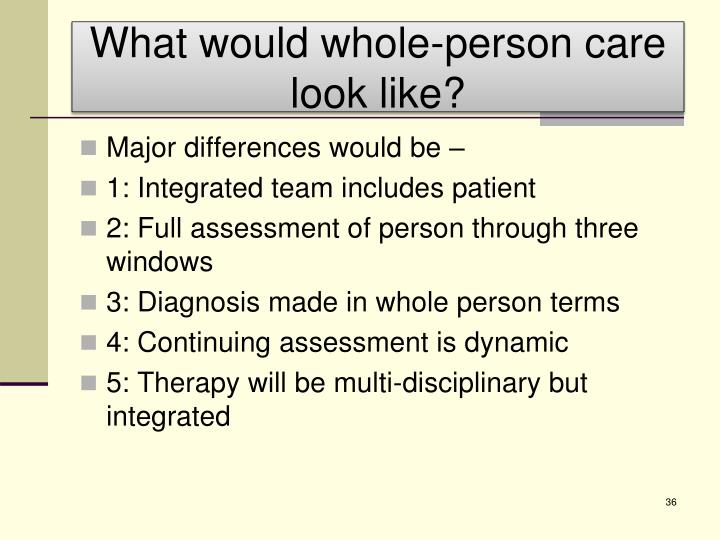 What would whole-person care look like?