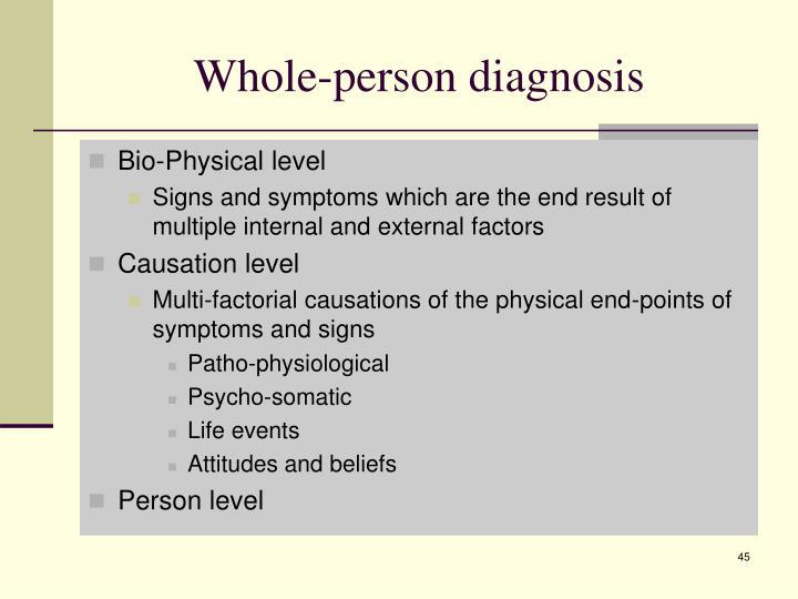 Whole-person diagnosis