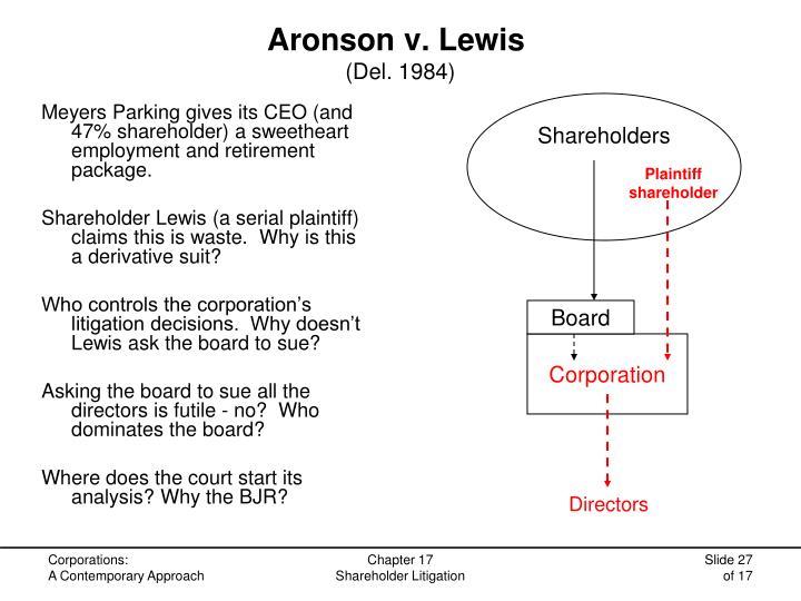 Aronson v. Lewis