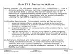 rule 23 1 derivative actions