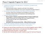 phase 2 upgrade program for 2013