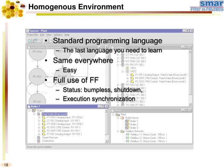 Standard programming language
