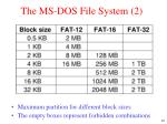 the ms dos file system 2