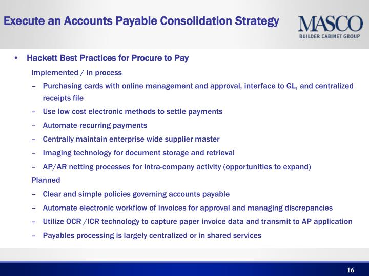 Hackett Best Practices for Procure to Pay