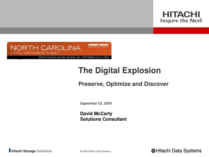 The digital explosion