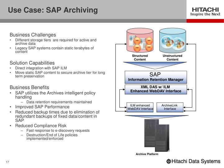 Use Case: SAP Archiving