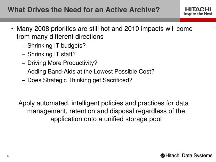 What Drives the Need for an Active Archive?