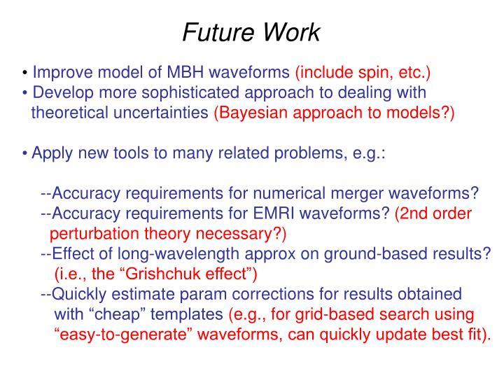 Improve model of MBH waveforms
