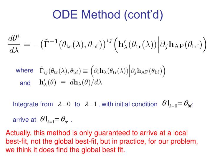 ODE Method (cont'd)