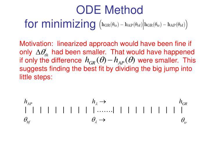 ODE Method