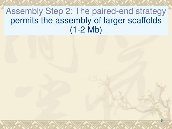 Assembly Step 2: The paired-end strategy