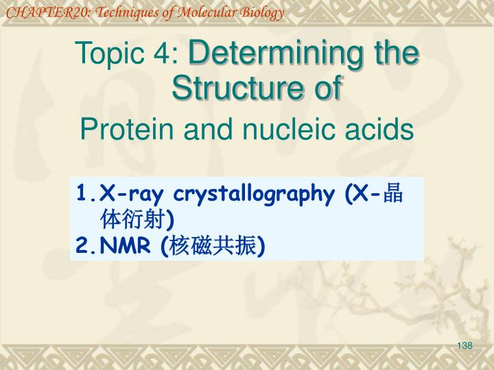 CHAPTER20: Techniques of Molecular Biology