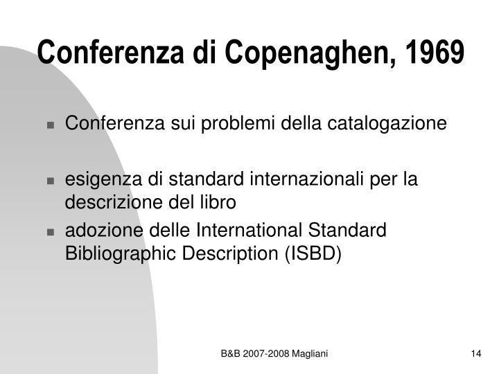 Conferenza di Copenaghen, 1969