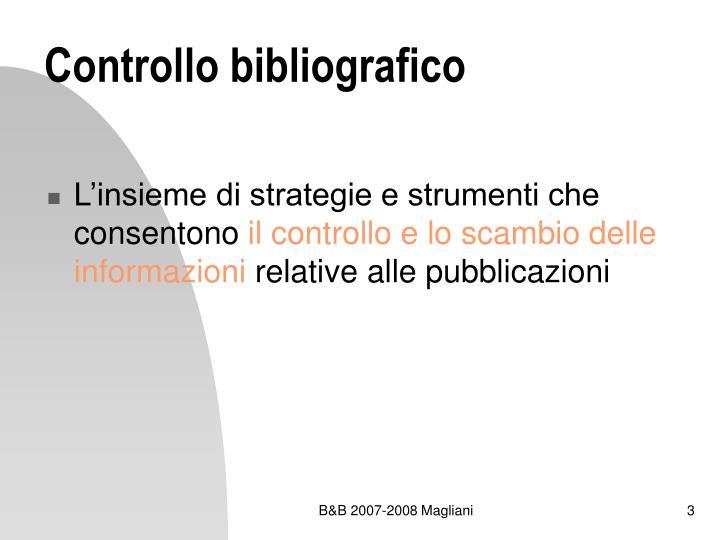 Controllo bibliografico