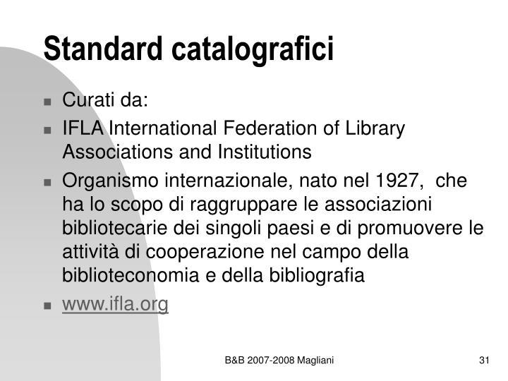 Standard catalografici