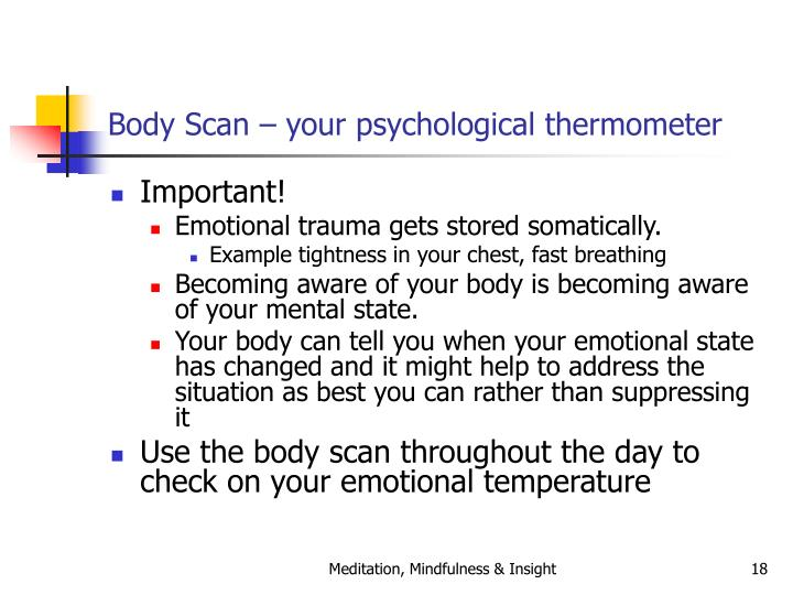 Body Scan – your psychological thermometer