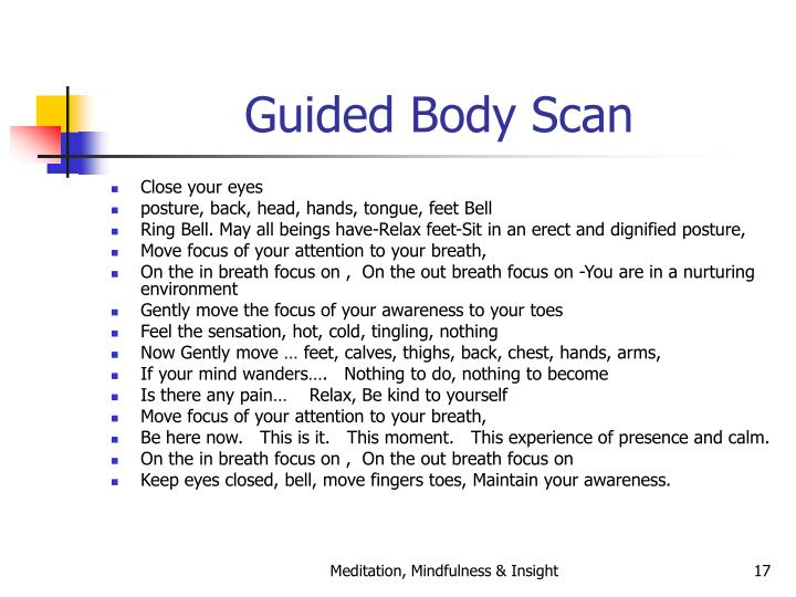 Guided Body Scan